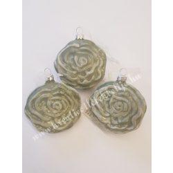 Antik rózsa, sötétzöld, 7 cm, 3 darab