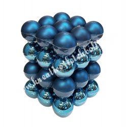 Üveggömb, kék, 2 féle szín, 36 db/doboz