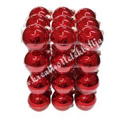 Karácsonyfadísz, gömb, piros, 4 cm, 36 db/doboz