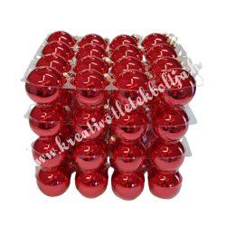 Karácsonyfadísz, gömb, piros, 4 cm, 63 db/doboz