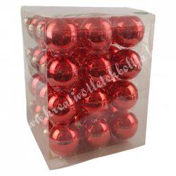Karácsonyfadísz, gömb, piros, fényes, 5,7 cm, 36 db/doboz