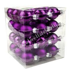 Karácsonyfadísz, bíbor, matt/fényes, 3 cm, 36 db/doboz