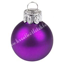Karácsonyfadísz, üveggömb, bíbor, matt, 4 cm