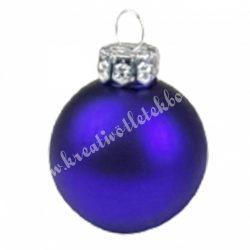 Karácsonyfadísz, üveggömb, viola lila, matt, 4 cm