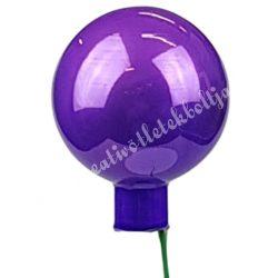 Üveggömb beszúrós, viola lila, fényes, 4 cm