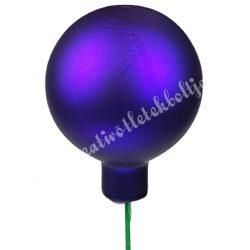Üveggömb beszúrós, viola lila, matt, 4 cm