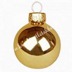 Karácsonyfadísz, üveggömb, opál arany, 4 cm