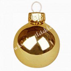 Karácsonyfadísz, üveggömb, opál arany, 5,7 cm