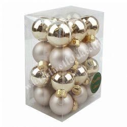 Karácsonyfadísz, pezsgő, matt-fényes, 24 db/doboz