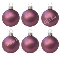 Karácsonyfadísz, gömb, padlizsán lila, 5 cm, 6 db/doboz