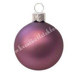 Karácsonyfadísz, gömb, padlizsán lila, 5 cm