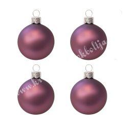 Karácsonyfadísz, gömb, padlizsán lila, 10 cm, 4 db/doboz
