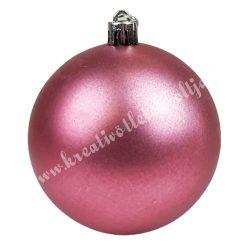 Karácsonyfadísz, üveggömb, pink, matt, 10 cm