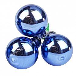 Betűzős üveggömb, királykék, fényes, 3 db/csokor, 2 cm
