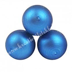 Betűzős üveggömb, királykék, matt, 3 db/csokor, 2 cm