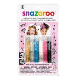Snazaroo arcfestő kréta - lányoknak, 6x7,9 gr