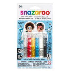 Snazaroo arcfestő kréta - fiúknak, 6x7,9 gr