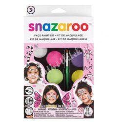 Snazaroo arcfesték készlet - lányoknak, 8x2 ml