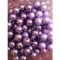 Üveggömb csokor, világos lila, 2,5 cm, 144 darab