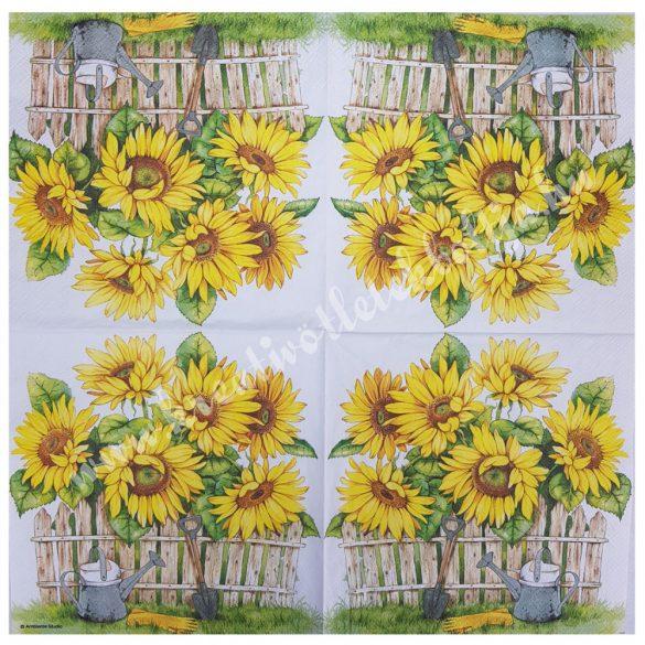 Szalvéta, virágok, 33x33 cm (40)