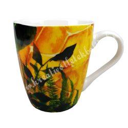 Kerámia csésze, 1,6 dl, páfrány leveles