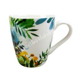 Kerámia csésze, 1,6 dl, virágos