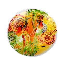 Kerámia lapos tányér, 27 cm, madaras