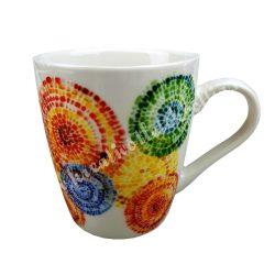 Kerámia csésze, 1,6 dl, mozaikos