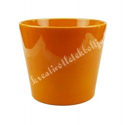 Kerámia kaspó, narancssárga, 17,5x14,5 cm