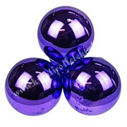 Betűzős üveggömb, sötétlila, fényes, 3 cm, 3 db/szett