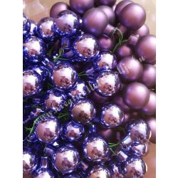 Üveggömb csokor, sötétlila, 2,5 cm, 144 darab