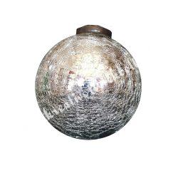 Üveggömb, ezüst, 12 cm-es