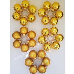 Üveggömb, arany, 5,7 cm, 30 darab