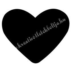 Mintalyukasztó, szív, 16 mm