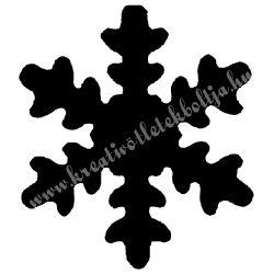 Mintalyukasztó, hópehely, 16 mm