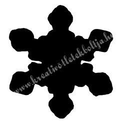 Mintalyukasztó, hópehely,  25 mm