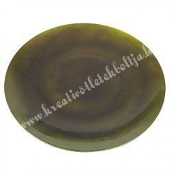 Műanyag dísztál, metál zöld, 45 cm