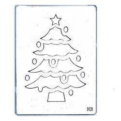 Stencil 156., Karácsonyfa, 14,5x19,5 cm