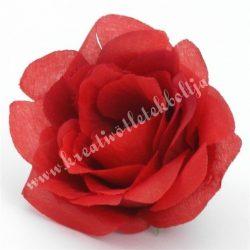 Rózsa virágfej, piros, 8 cm