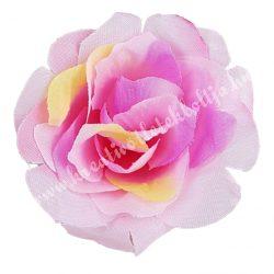 Rózsa virágfej, rózsaszín, 8 cm