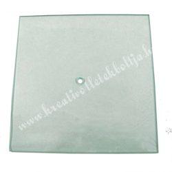 Üveg óralap, négyzet, 21x21 cm