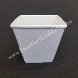 Porcelán kaspó, fehér