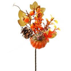 Őszi csokor, narancssárga, 27 cm