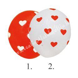 Lufi szívvel, gömb, 30 cm, 2 féle