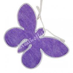 Akasztós textil pillangó, lila, 30x20 cm