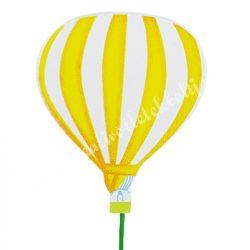 Betűzős léggömb, citromsárga, 6,3x8 cm