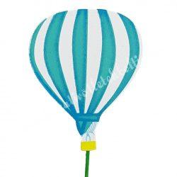 Betűzős léggömb, kék, 6,3x8 cm