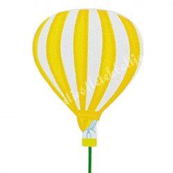 Betűzős léggömb, napsárga, 6,3x8 cm