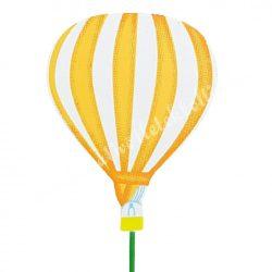 Betűzős léggömb, világosnarancs, 6,3x8 cm