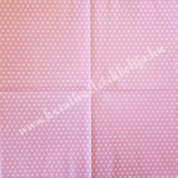 Szalvéta, mintás, pöttyös, rózsaszín, 33x33 cm (2)
